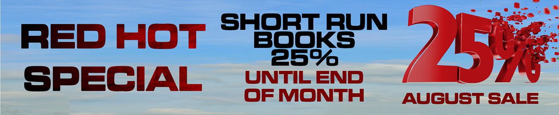 SHORT RUN BOOKS 25 OFF