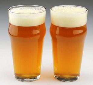 Custom Printed Hops 16 oz. Beer Glass, Easy Grip Pint